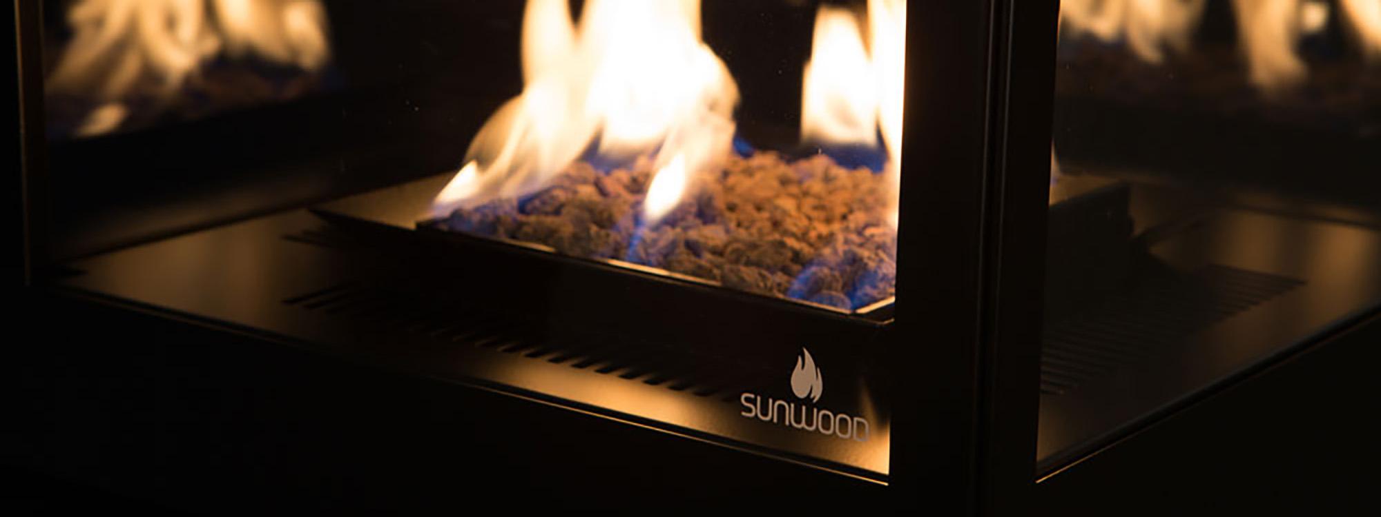 sunwood marino gaskaminofen hotels event location terrasse. Black Bedroom Furniture Sets. Home Design Ideas